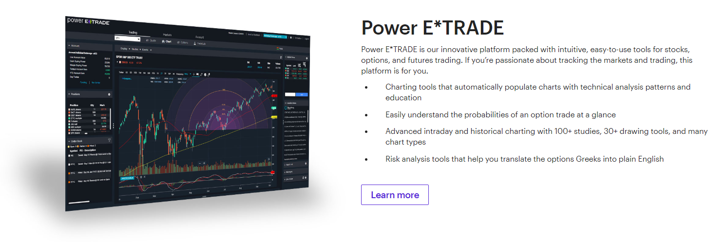e*trade platform