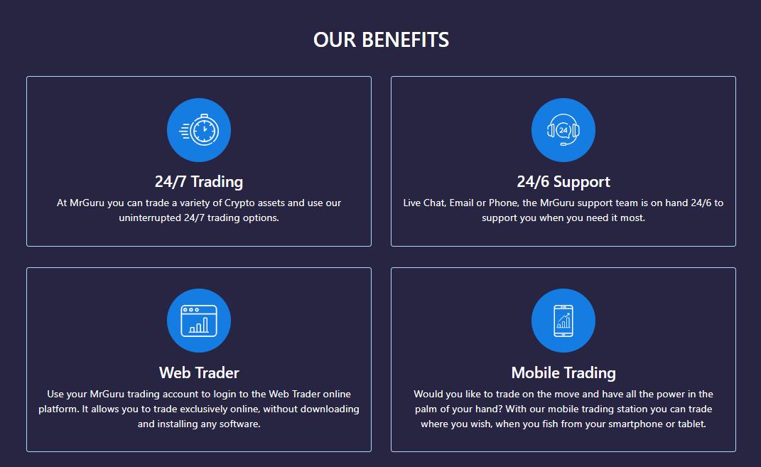 MrGuru main trading benefits